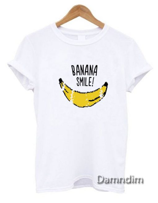 Banana Smile Funny Graphic Tees