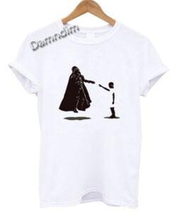 Eleven vs darth Vader star Wars Stranger Things Funny Graphic Tees