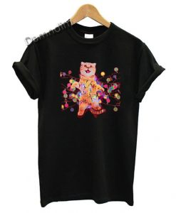 Christmas Cats in Lights with LED Funny Graphic Tees