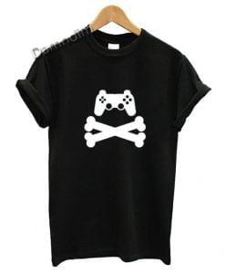 Gamer T-Shirt Game Pad Cross Bones Gaming T Shirt
