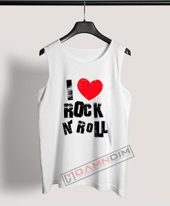 Tank Top I HEART Rock N Roll
