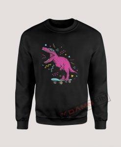 Sweatshirt 90s Retro Skater T Rex