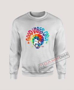 Sweatshirt Bob Ross Good Vibes Only