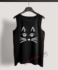 Tank Top Cat Face Halloween