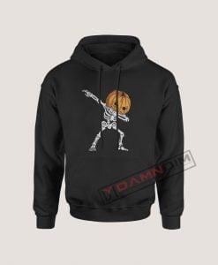 Hoodies Dabbing Pumpkin Head Skeleton Halloween