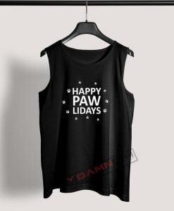 Tank Top Happy Pawlidays