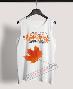 Tank Top Happy Thanksgiving Day