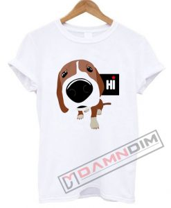 Hi Puppy Cartoon Smile T Shirt