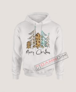Hoodies Merry Christmas Tree