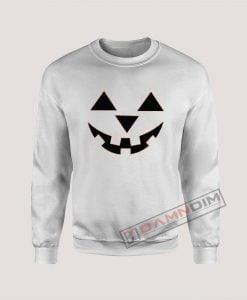 Sweatshirt Pumpkin Face Jack-O-Lantern