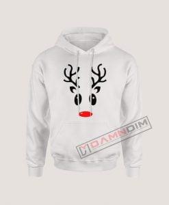 Hoodies Reindeer Face