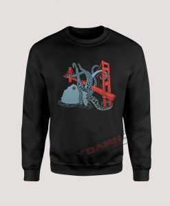 Sweatshirt Triblend San Francisco Octopus