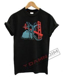 Triblend San Francisco Octopus T Shirt