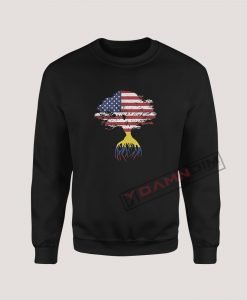 Sweatshirts American Flag Colombian Roots Colombia Flag