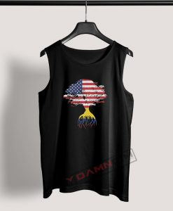 Tank Top American Flag Colombian Roots Colombia Flag