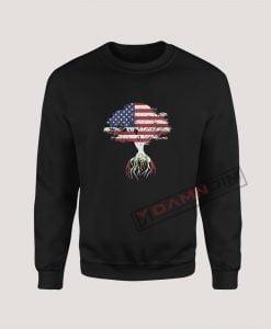 Sweatshirts American Flag Peruvian Roots Peru Flag