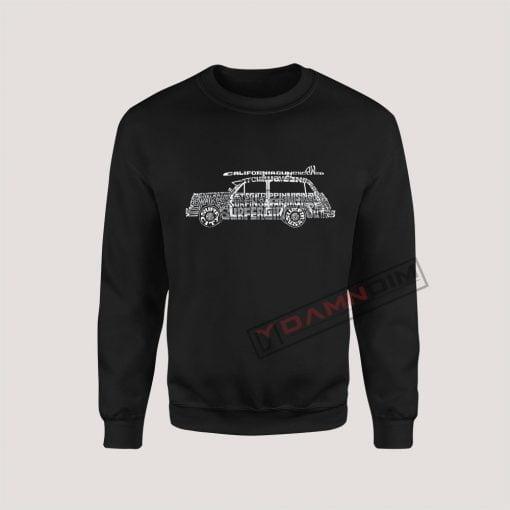 Sweatshirt Classic Surf Rock Songs