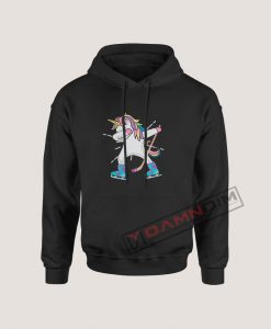 Hoodies Dabbing Unicorn With A Hockey Stick