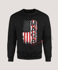 Sweatshirt Donald Trump USA Flag Maga