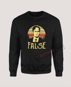 Sweatshirt Dwight Schrute False