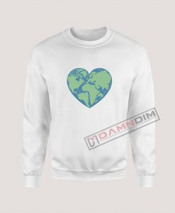 Sweatshirt Earth heart Love Earth