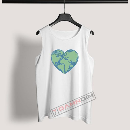 Tank Top Earth heart Love Earth