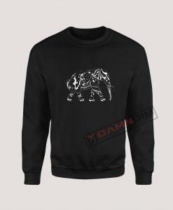 Sweatshirt elephant graphic