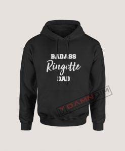 Hoodies Badass Ringette Dad