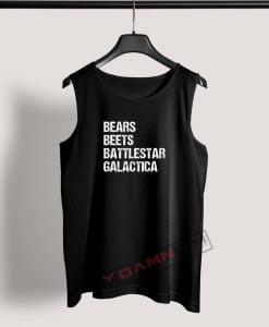 Tank Top Bears Beets Battlestar Galactica