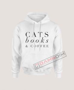 Hoodies Cats Book & Coffee
