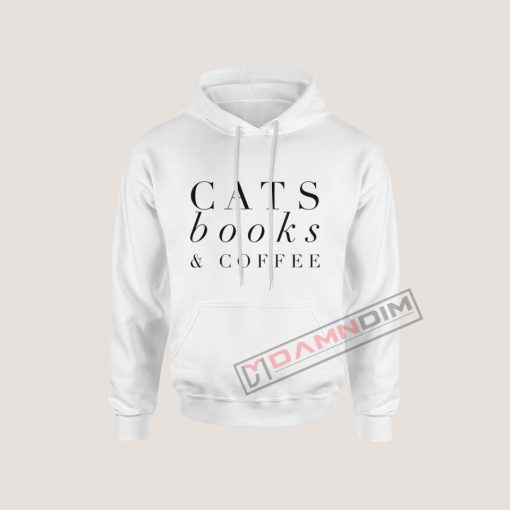 Hoodies Cats Book & Coffee