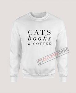 Sweatshirts Cats Book & Coffee
