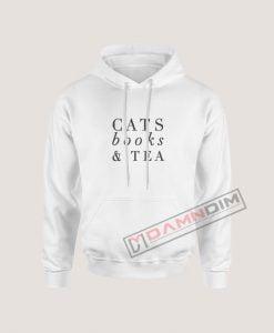 Hoodies Cats Books and Tea