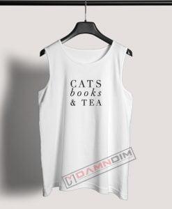 Tank Top Cats Books and Tea
