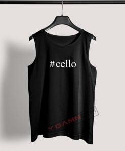 Tank Top Cello Hashtag