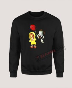 Sweatshirts Chucky and Pennywise