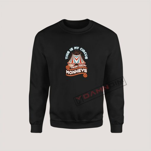 Sweatshirts Circus Monkeys Staff Costume Carnival