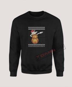 Sweatshirts Dabbing Snowman Basketball Lover
