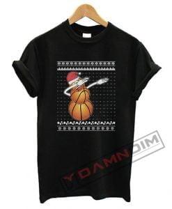 Dabbing Snowman Basketball Lover T Shirt