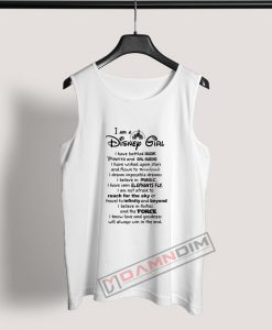 I Am A Disney Girl Quotes Tank Top