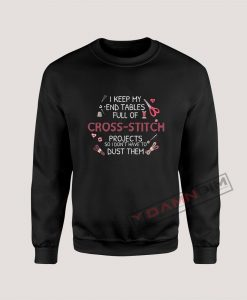 Cross Stitch Quote Sweatshirt