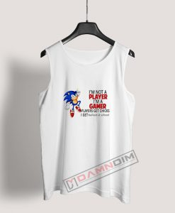 I'm Not A Player I'm A Gamer Sonic Tank Top