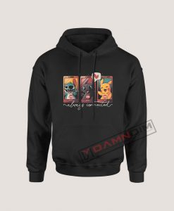 Always Connected Stitch Toothless and Pikachu Hoodie