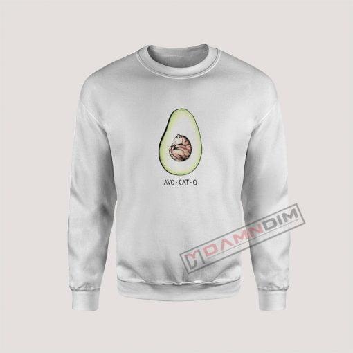 Avo Cat O Cat Avocado Sweatshirt
