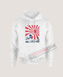 Great Wave off Kanagawa Rising Sun Hoodie