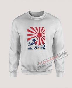 Great Wave off Kanagawa Rising Sun Sweatshirt