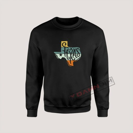 Texas State Country Retro Vintage Sweatshirt
