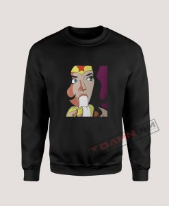 Wonder Woman Eating Banana Sweatshirt