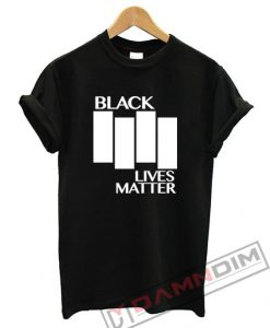 Black Lives Matter Black Flag Parody T-Shirt For Unisex