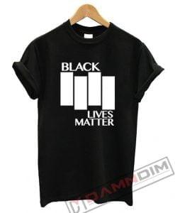 Black Lives Matter Black Flag Parody T-Shirt For Unisex